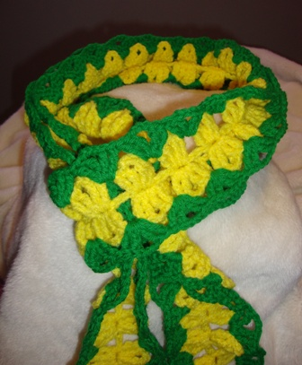 Support the Green Bay Packers in the Super Bowl with this Green and Gold Scarf